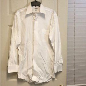 Paul Fredrick Men's White Dress Shirt.